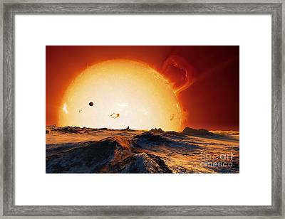 Sun Over Dying Earth, Artwork Framed Print by Detlev van Ravenswaay