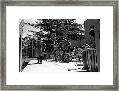 Sun Ra Arkestra Uc Davis Quad 2 Framed Print by Lee  Santa