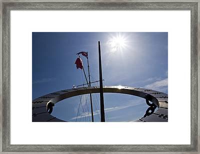 Sundial Framed Print by David Pyatt
