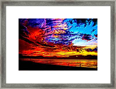 Sunset In The Clouds Framed Print by Bruce Nutting