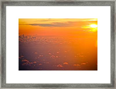 Sunset In The Sky Framed Print by Raimond Klavins
