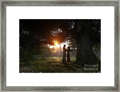 Sunset Lovers Framed Print by Dominic Davison