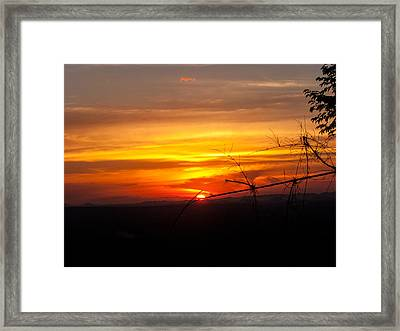 Sunset Framed Print by Nawarat Namphon
