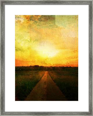 Sunset Road Framed Print by Brett Pfister
