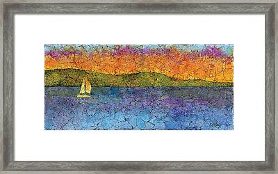 Sunset Sail Framed Print by Elaine Allen