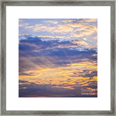 Sunset Sky Framed Print by Elena Elisseeva