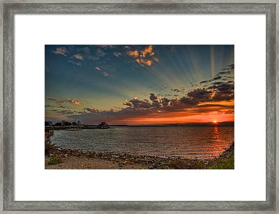 Sunset Streaks Framed Print by Mike Horvath
