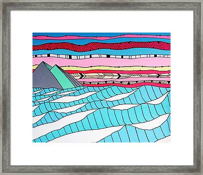 Sunset Surf Framed Print by Susan Claire