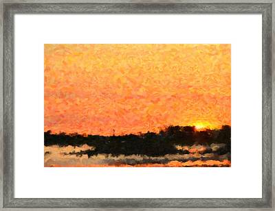 Sunset Framed Print by Toppart Sweden