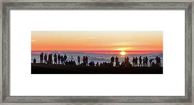 Sunset Tourism On Haleakala Framed Print by Babak Tafreshi