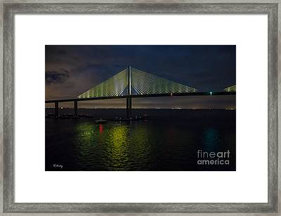 Sunshine Skyway Bridge Tampa Florida Framed Print by Rene Triay Photography