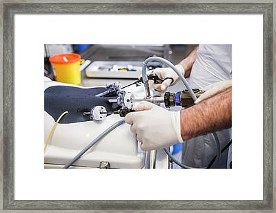 Surgical Skills Practice Framed Print by Gustoimages