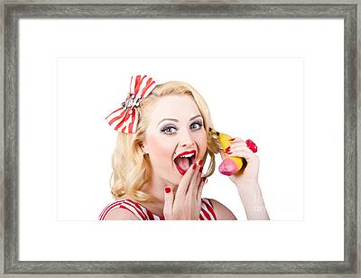 Surprising News On The Banana Phone Framed Print by Jorgo Photography - Wall Art Gallery