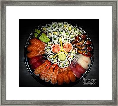 Sushi Party Tray Framed Print by Elena Elisseeva
