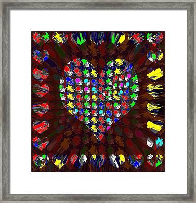 Sweet Heart Golden Sweetheart Made Of Moons Stars Sparkle Flair Unique Signature Art Navinjoshi Framed Print by Navin Joshi