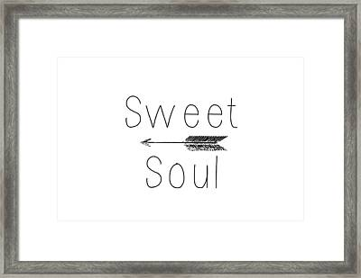 Sweet Soul Framed Print by Chastity Hoff