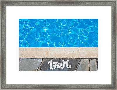 Swimming Pool Framed Print by Tom Gowanlock