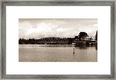 Swing Bridge Framed Print by Carolyn Ricks