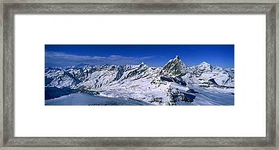 Swiss Alps From Klein Matterhorn Framed Print by Panoramic Images