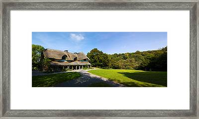 Swiss Cottage Cottage Ornee On A Hill Framed Print by Panoramic Images