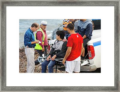 Syrian Refugee Framed Print by Ashley Cooper