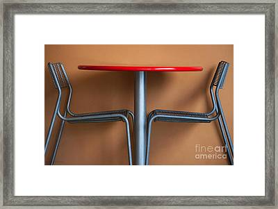 Table And Chairs Framed Print by Dan Holm