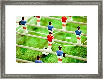 Table Football Framed Print by Tom Gowanlock