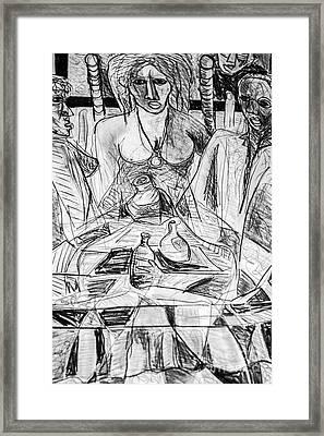 Table Talk Framed Print by Robert Daniels