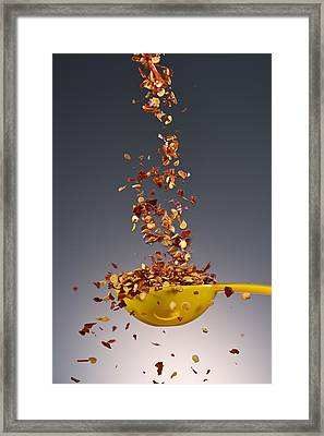 1 Tablespoon Red Pepper Flakes Framed Print by Steve Gadomski