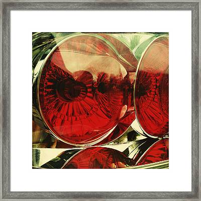Tail Lights Framed Print by Les Cunliffe