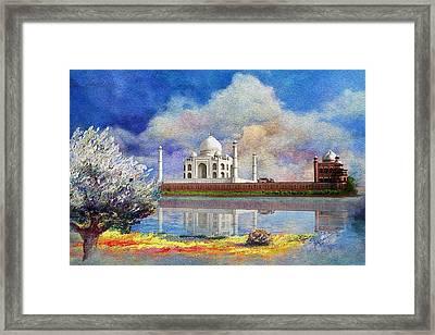 Taj Mahal Framed Print by Catf
