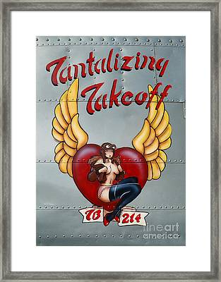 Beechcraft Tantalizing Takeoff Framed Print by Olga Hamilton