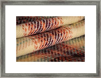 Tartan Fabric Framed Print by Tom Gowanlock