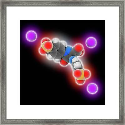 Tartrazine Molecule Framed Print by Laguna Design