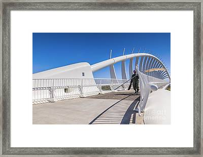 Te Rewa Rewa Bridge Taranaki New Zealand Framed Print by Colin and Linda McKie