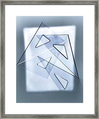 Technical Drawing Framed Print by Tek Image