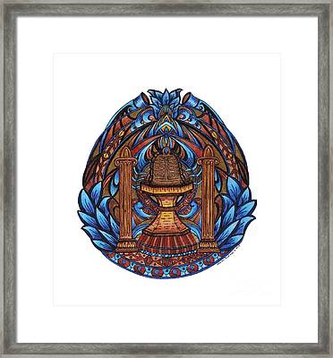 Temple Framed Print by Sharon Andrews