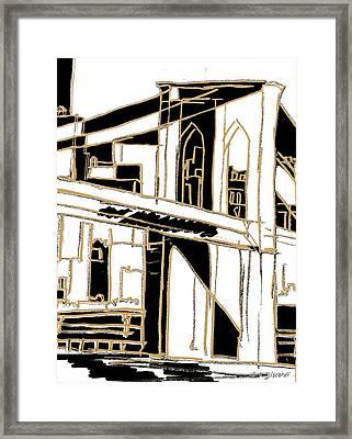 Tenement Brooklyn Framed Print by Nicholas Biscardi