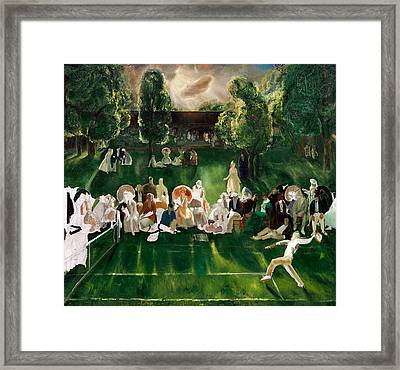 Tennis At Newport Framed Print by Celestial Images