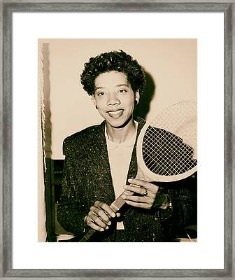 Tennis Great Althea Gibson 1956 Framed Print by Mountain Dreams