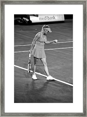 Tennis Star Caroline Wozniaki - Australian Open 2012 Framed Print by Mountain Dreams