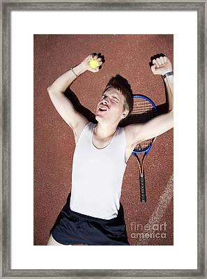 Tennis Triumph  Framed Print by Jorgo Photography - Wall Art Gallery