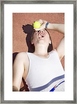 Tennis Trouncing Framed Print by Jorgo Photography - Wall Art Gallery