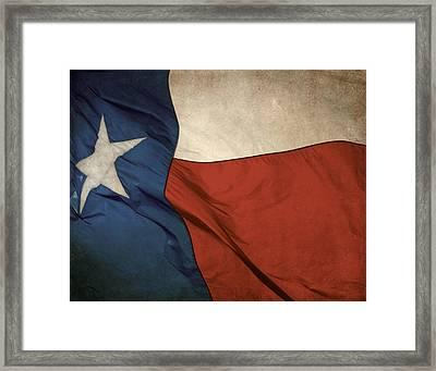 Rustic Texas Flag  Framed Print by David and Carol Kelly