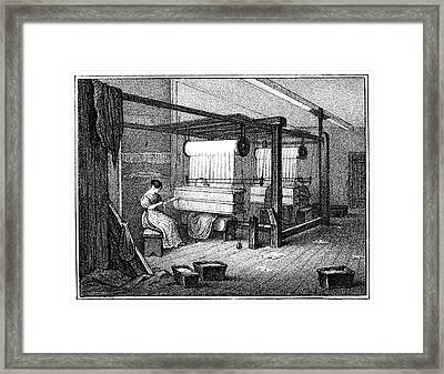 Textile Manufacture, 1840 Framed Print by Granger