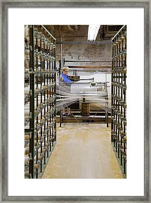 Textile Mill Warping Creel Framed Print by Jim West