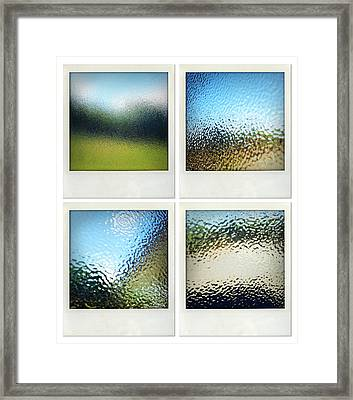 Textured Surfaces Framed Print by Les Cunliffe