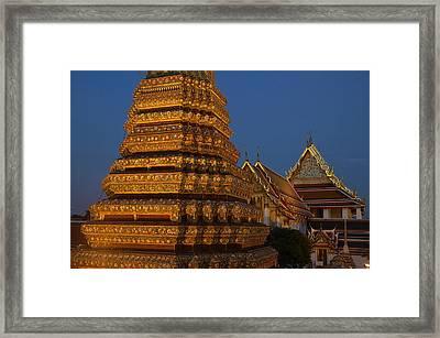 Thailand, Bangkok, Wat Pho, Buddhist Framed Print by Tips Images