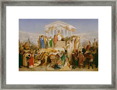 The Age Of Augustus The Birth Of Christ Framed Print by Jean Leon Gerome