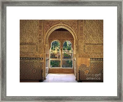 The Alhambra Torre De La Cautiva Framed Print by Guido Montanes Castillo